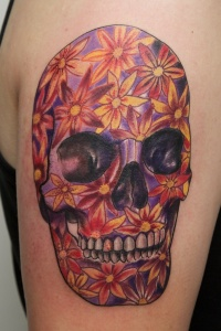 Skull of flowers by graynd